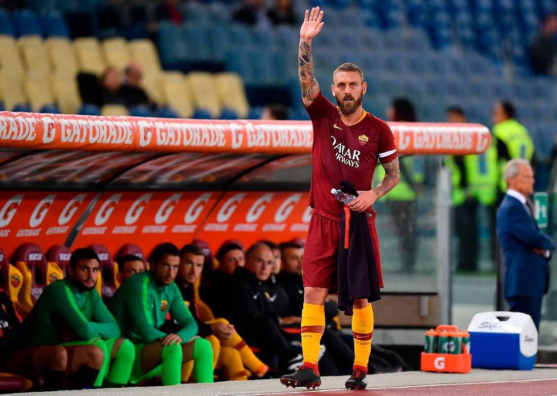 Daniele de Rossi gör i dag sin sista match i Roma-tröjan. Han har representerat klubben i 18 år.