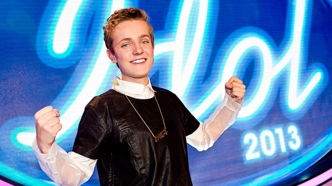 "Erik Rapp i ""Idol"" 2013."