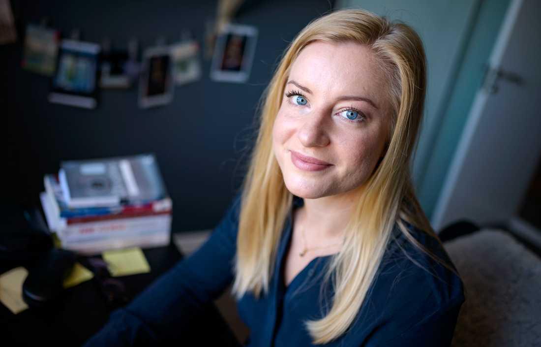 Louise Klintner, doktorand vid Ekonomihögskolan i Lund har varit med och tagit fram förslag till internationell standard för mensskydd. Arkivbild.