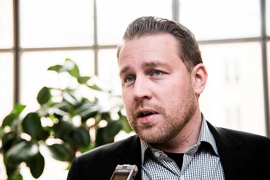 Mattias Karlsson, gruppledare i Sverigedemokraterna.