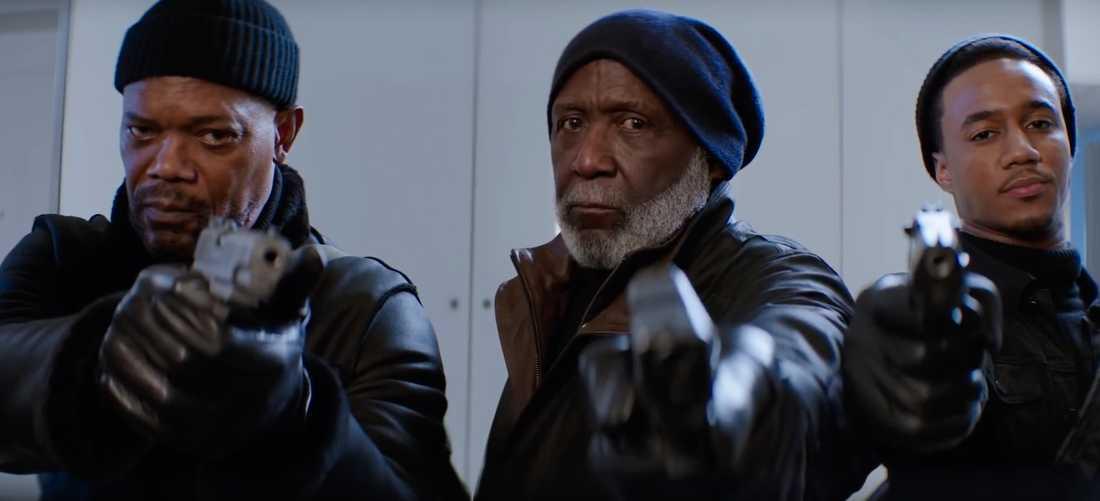 "Samuel L Jackson, Richard Roundtree och Jessie Usher i ""Shaft""."