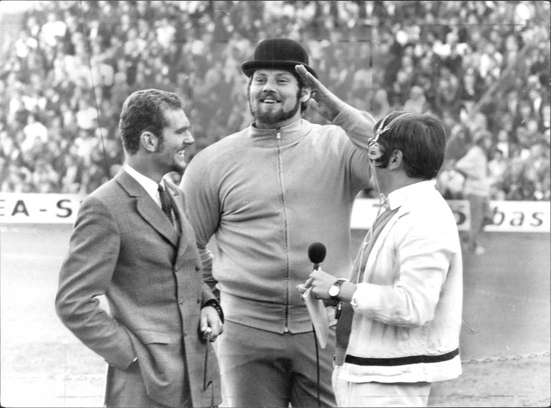 Intervjuas av Radiosportens legendar Åke Strömmer vid finnkampen 1969.
