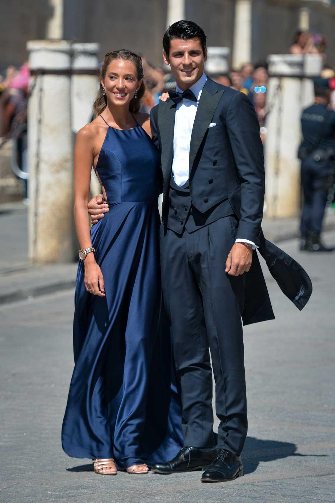 Alvaro Morata med frun Alice Campello.