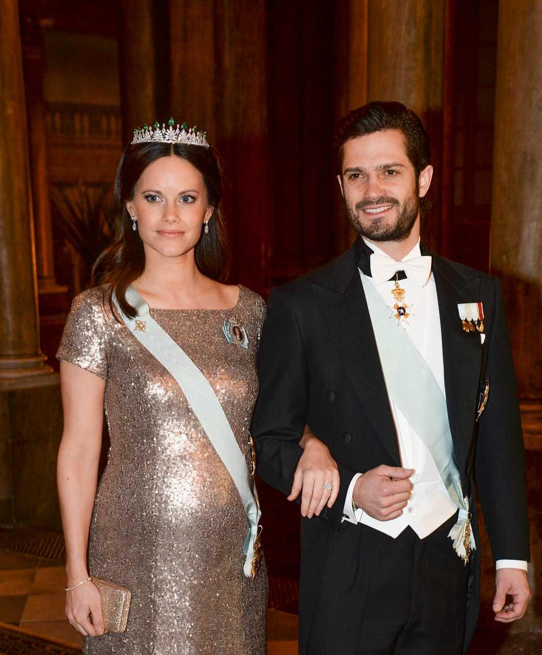 Prinsessan Sofia och prins Carl Philip syntes ofta ute i vimlet tillsammans under graviditeten.