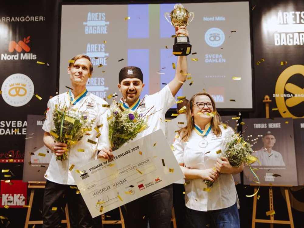Montadar Kanbar tog hem titeln som Årets bagare 2020.