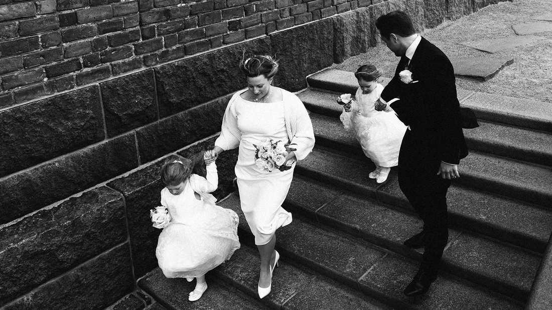 Hala familjen var med till bröllopet i Stockholms stadshus.