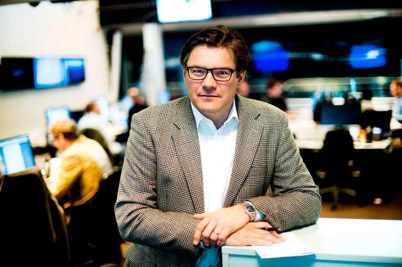 Jan Helin på Aftonbladets redaktion.