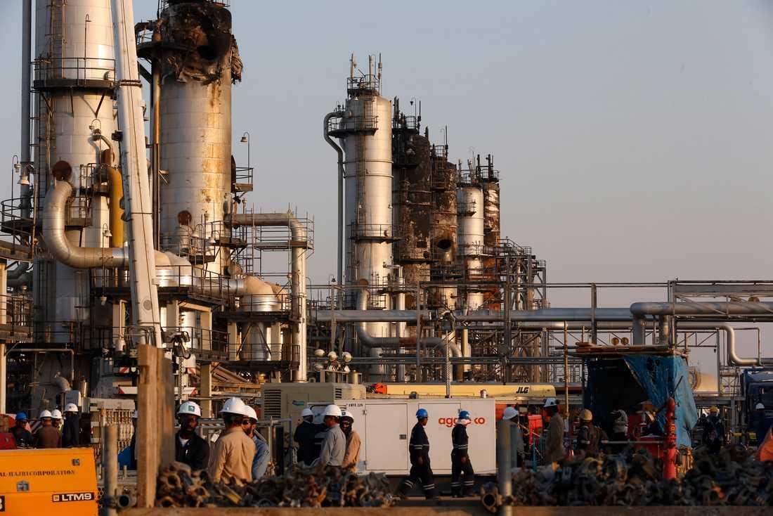 En av Aramcos oljeanläggningar i Saudiarabien. Arkivbild