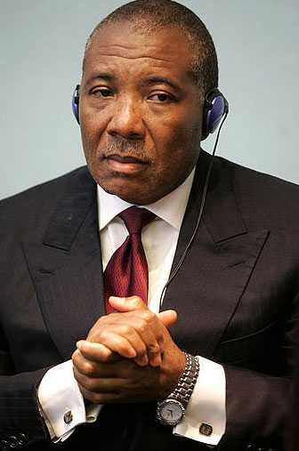 Liberias ex-president Charles Taylor i rätten i Haag.
