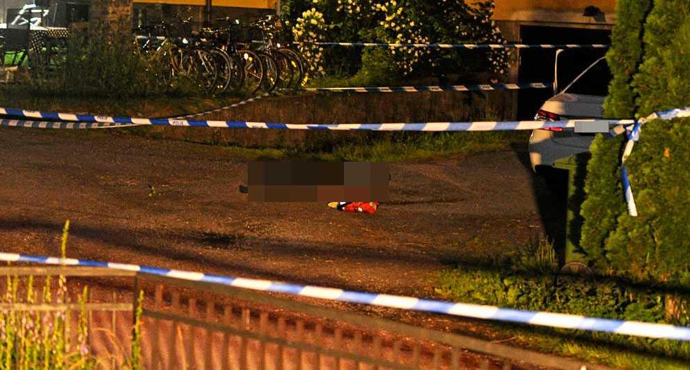 Mannen sköts till döds på en bakgård i Enskede.