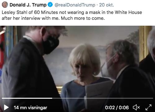 Donald Trumps attack mot Lesley Stahl tidigare i veckan.