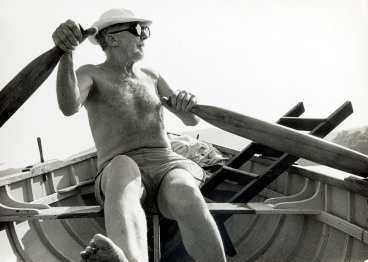 Ezra Pound ror i Rapallo.