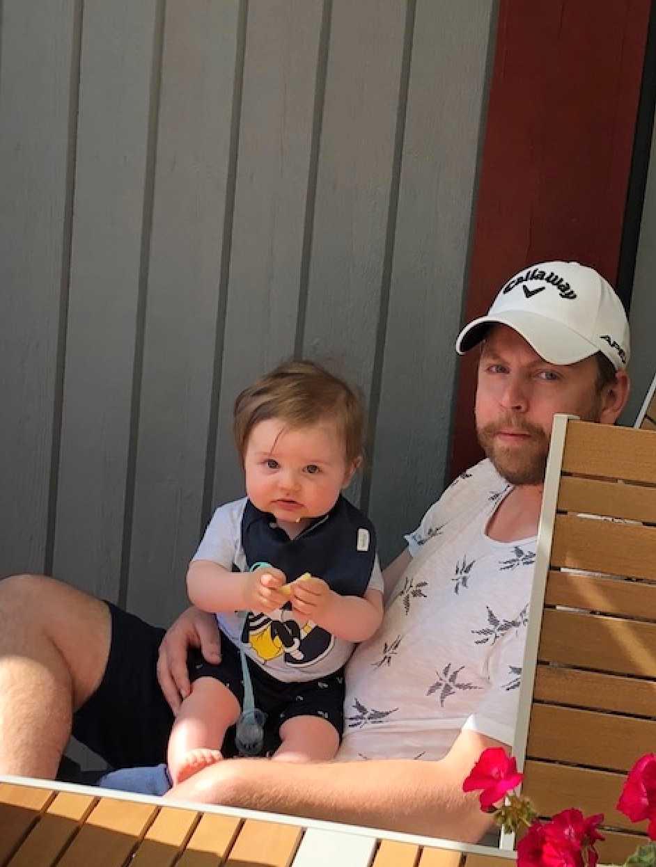 """Patricia Szpak från Huddinge i Stockholm: """"Vi får också ofta höra att vår son har mycket hår. Kanske kan han vara en motsvarighet:) Här är Theo för en månad sedan när han var sju månader""""."""