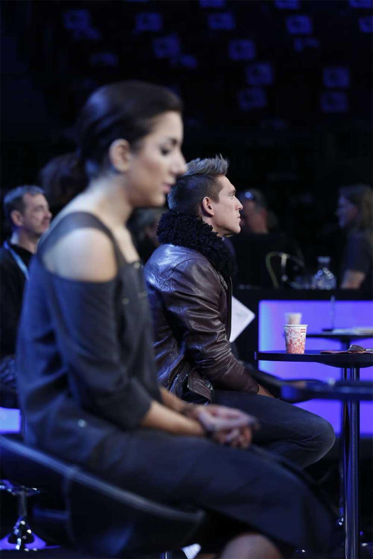 """""""Danny är en rutinerad artist och jag blir blyg när jag ska sjunga framför folk"""", säger Gina."""