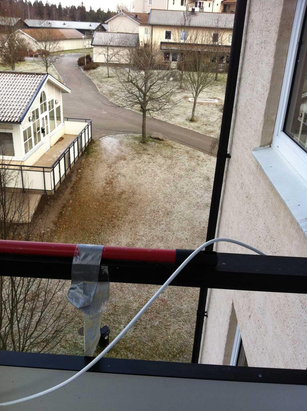 Ett tunt, tunt snötäcke i Växjö.
