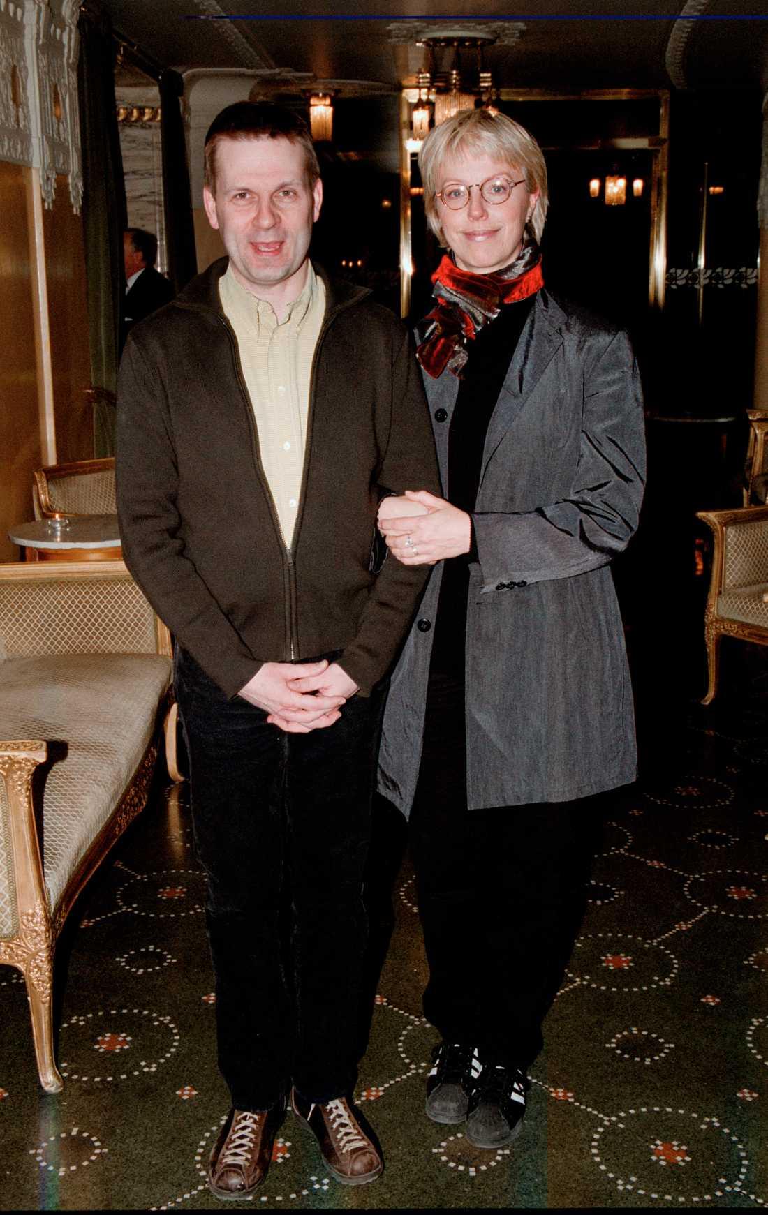 Stipendieutdelning på Dramaten år 2000. Benny Fredriksson och hustrun Anne Sofie von Otter.