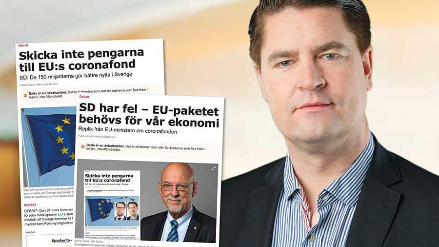 Det är viktigt viktigt att Sverige omges av länder som för en sund finanspolitik, inte lever över sina tillgångar och som inte kräver svenska skattemedel för att finansiera sin budget. Slutreplik om coronafonden från Oscar Sjöstedt, SD.