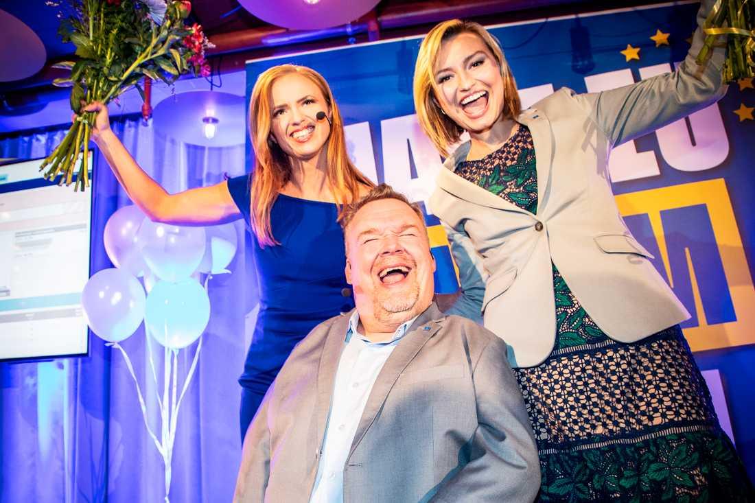 Sara Skyttedal, Ebba Busch Thor och David Lega.