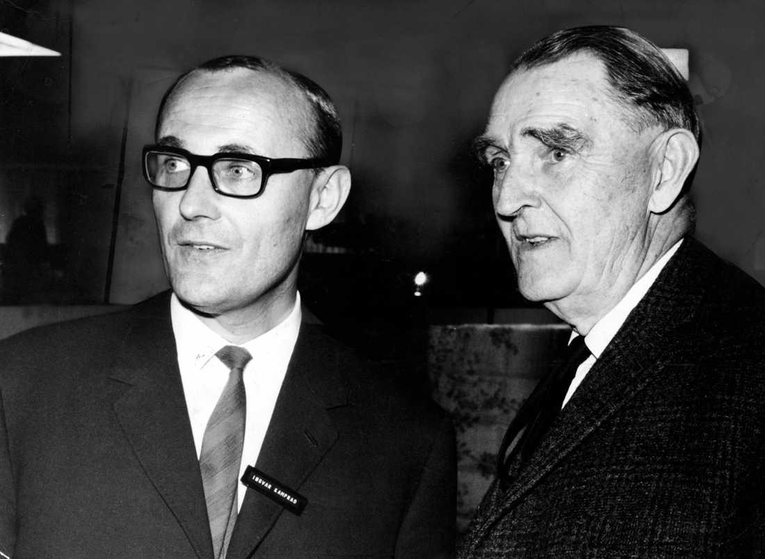 Ingvar Kamprad tillsammans med sin far Feodor är 1965.