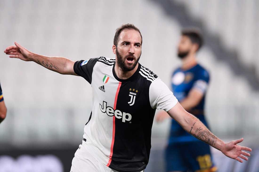 Gonzalo Higuaín har jublat klart i Juventus. Arkivbild.