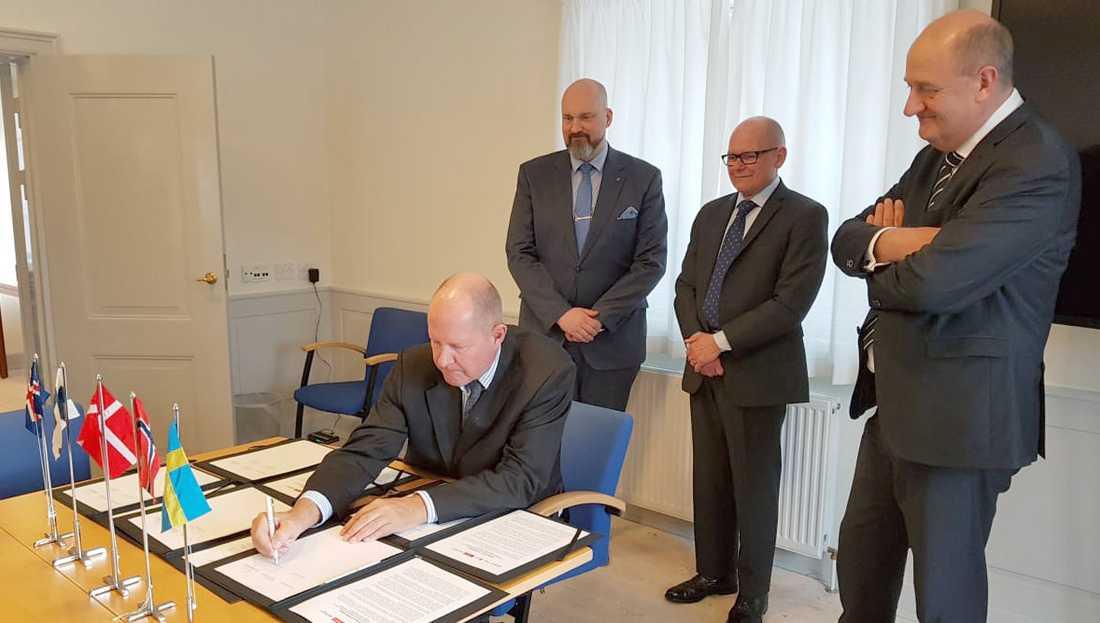 Generaldirektörerna från beredskapsmyndigheterna i Sverige, Danmark, Finland, Island och Norge träffades på ett gemensamt möte i Köpenhamn. Där enades man om att förstärka det nordiska beredskapssamarbetet.