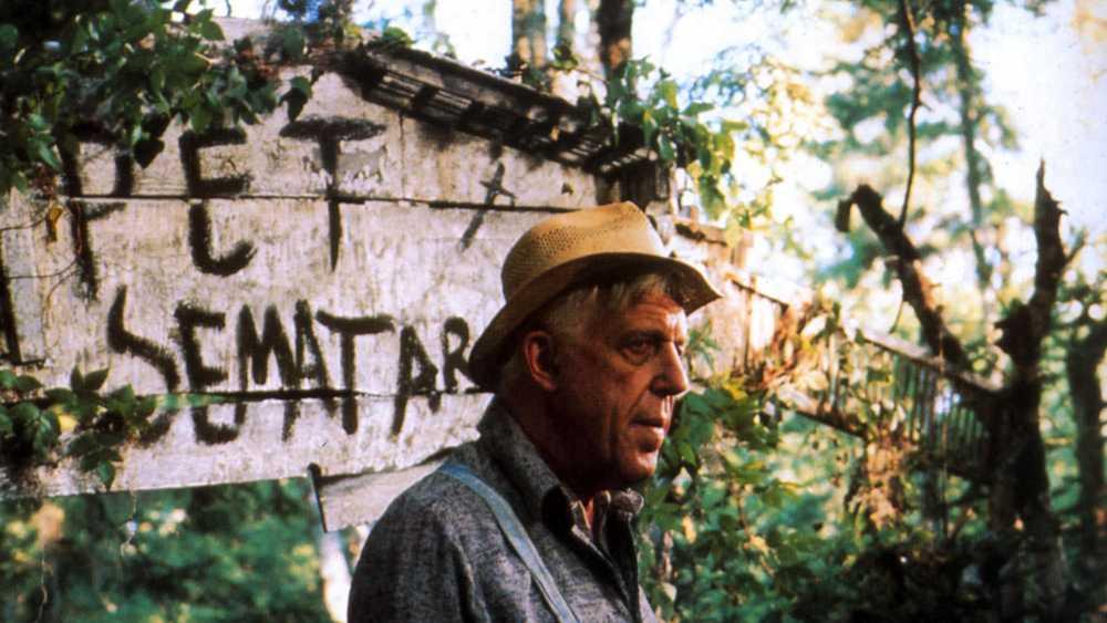 """Fred Gwynne som Jud i första """"Jurtjyrkogården"""" (1989)."""