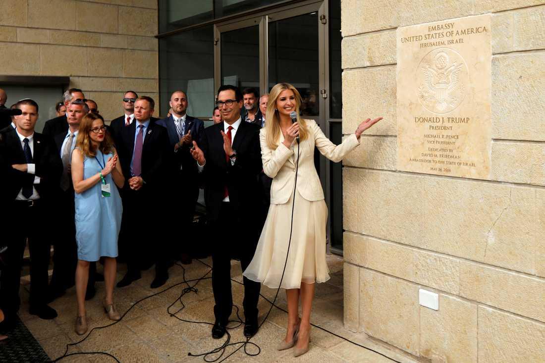 Donald Trumps dotter Ivanka Trump i samband med invigningen av USA:s ambassad i Jerusalem förra året. Arkivbild.