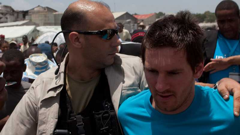 Messi på plats i Haiti.