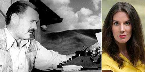 Ernest Hemingway – författare och legendarisk suput. Till höger Leslie Jamison som skrivit om sin och andra författares alkoholism.