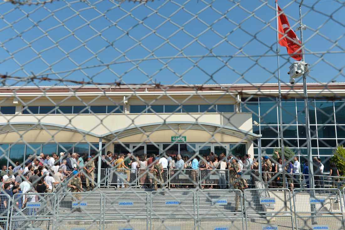 Det har varit ett stort intresse för de rättsliga förhandlingarna i Gezipark-målet. Bild från en tidigare rättegångsdag.