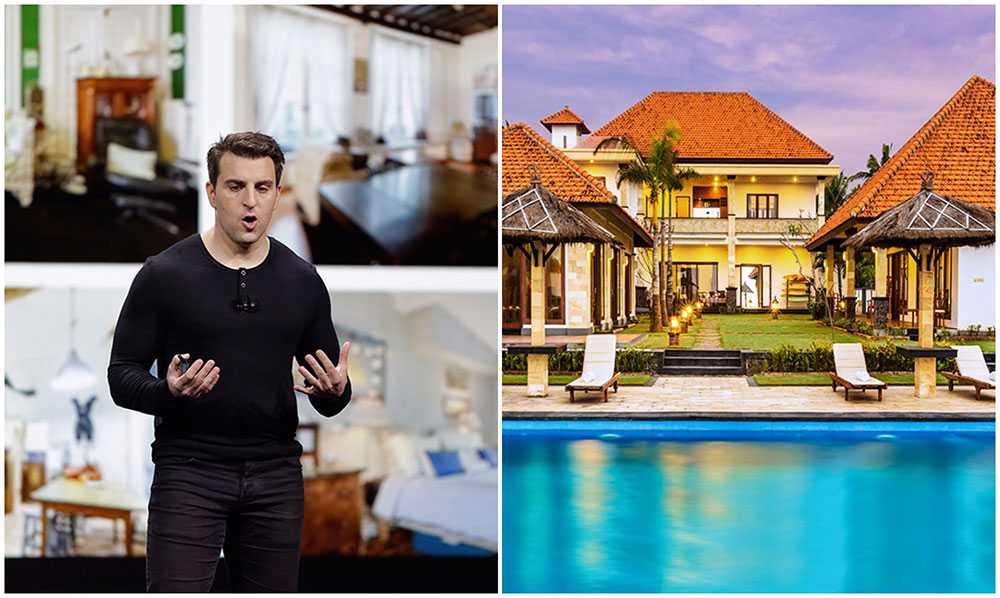 Airbnb:s vd Brian Chesky presenterade nyheter i San Fransisco.