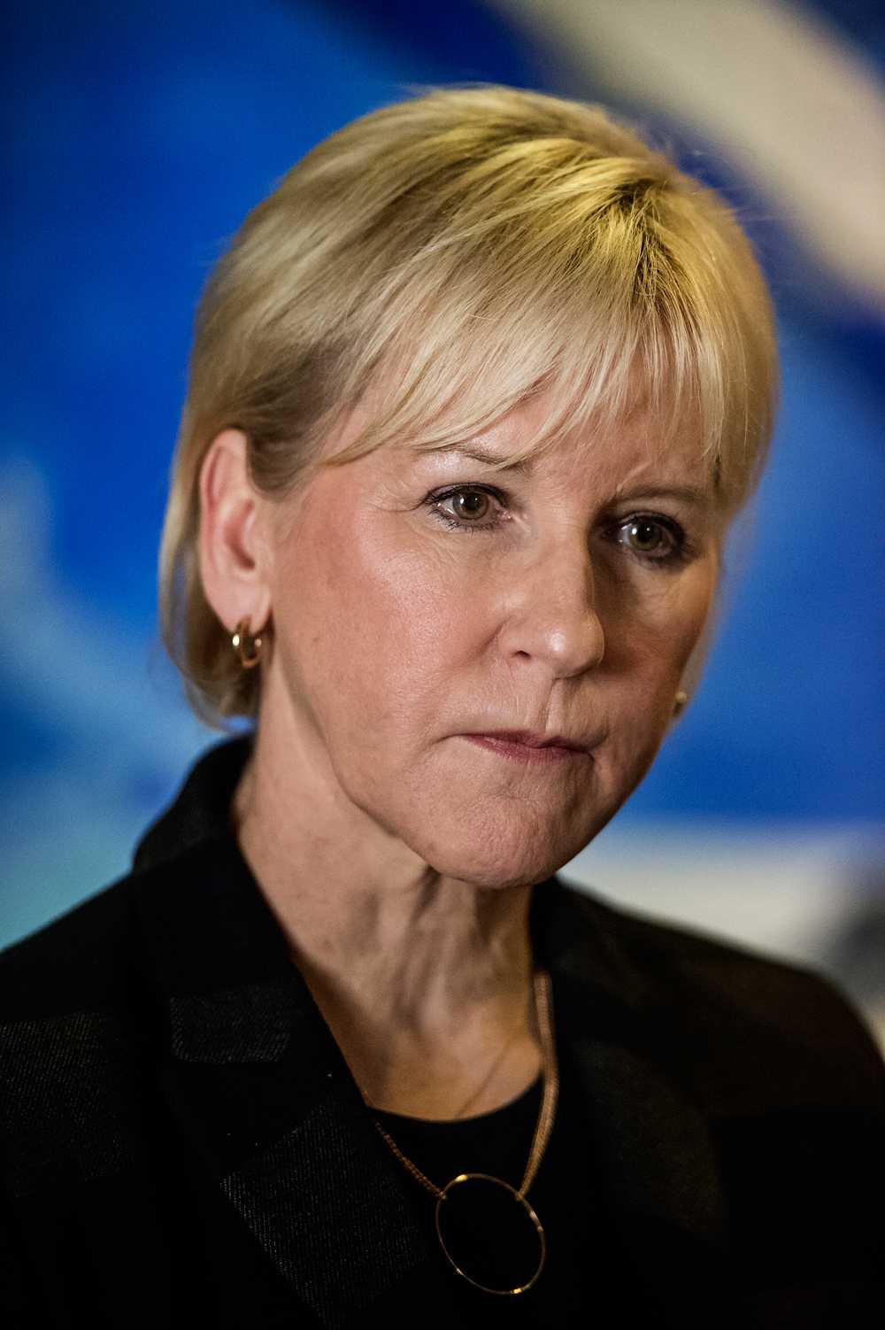 Margot Wallström, Sveriges utrikesminister.