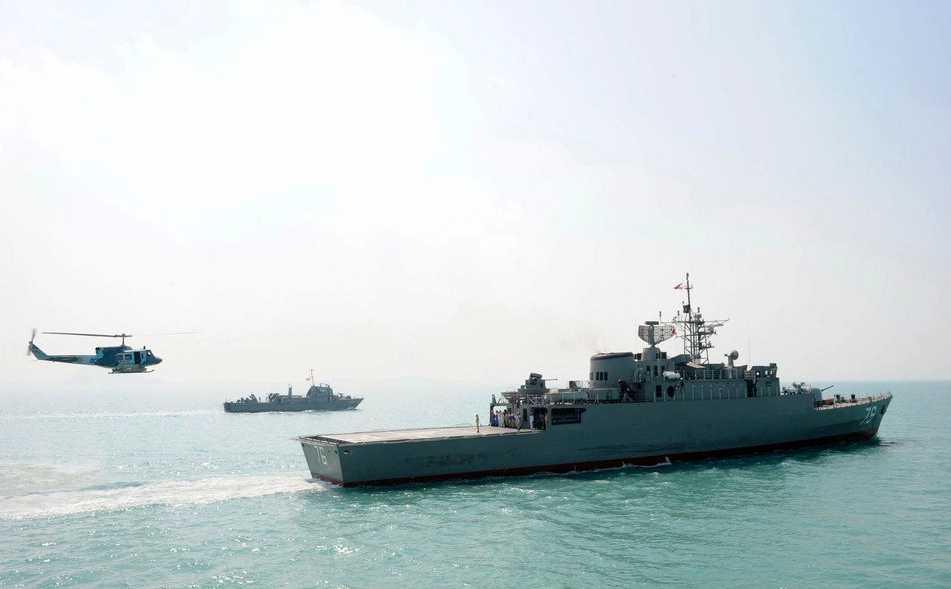 Iranska militärfartyget Jamaran under en övning tidigare i år.