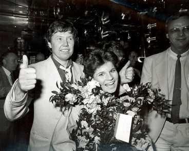 Carola vinner Melodifestivalen 1983.