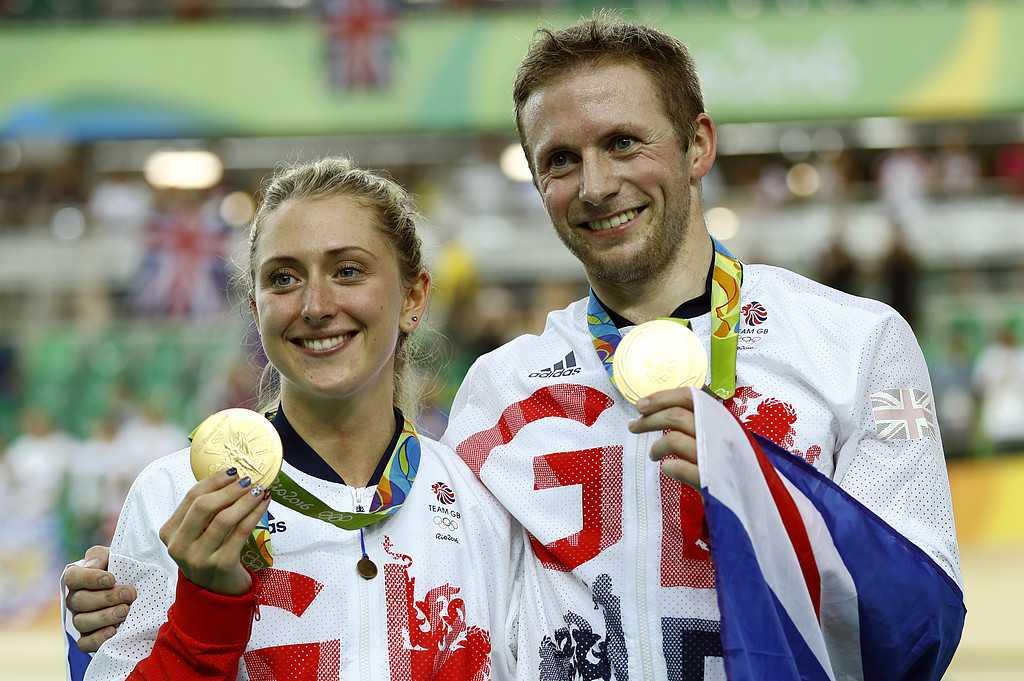 Paret Jason Kenny och Laura Trott vann både guldmedalj