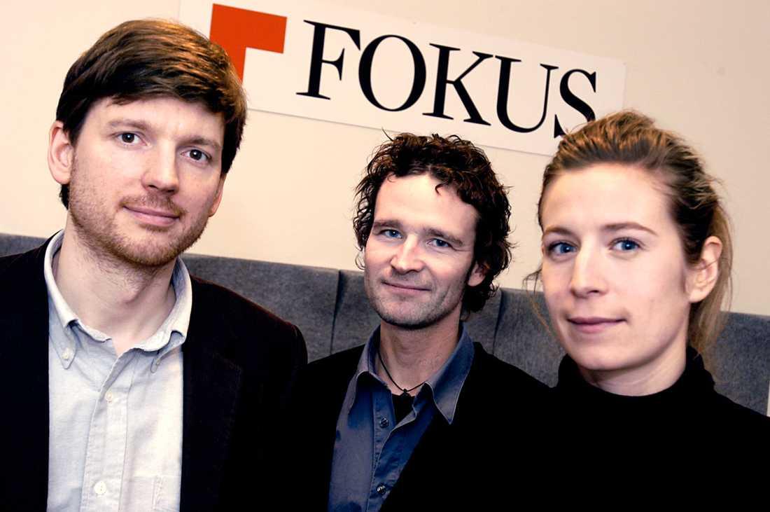 Martin Ådahl, Martin Ahlquist och Karin Pettersson startade nyhetsmagasinet Fokus 2005. I dag finns ingen av dem kvar på tidningen.