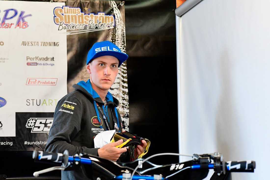 Linus Sundström har skrivits ut från intensiven efter söndagens krasch i Polen. Arkivbild.