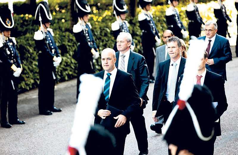 absolut kontroll Fredrik Reinfeldt vid riksdagens öppnande 2009.