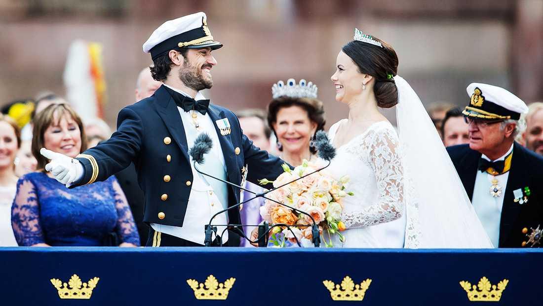 7,4 MILJONER Där hamnade notan för Carl Philips och Sofias bröllop.