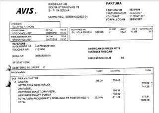 Juholt hyrde en bil i Stockholm den 16 februari 2007. Två dagar senare lämnade han tillbaka den i Stockholm. Enligt fakturan körde han 94,3 mil med bilen.