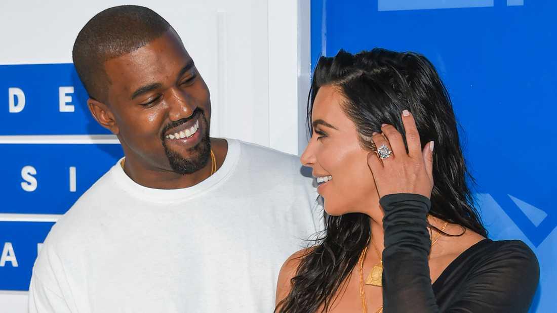 Kim Kardashian och Kanye West.