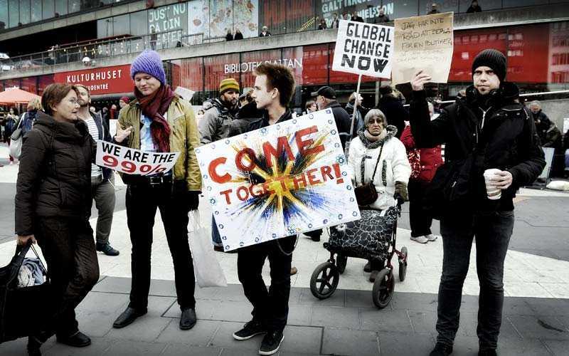 Demonstrationen i Stockholm på lördagen.