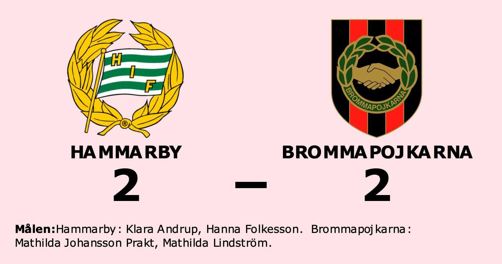 Hammarby kryssade mot Brommapojkarna