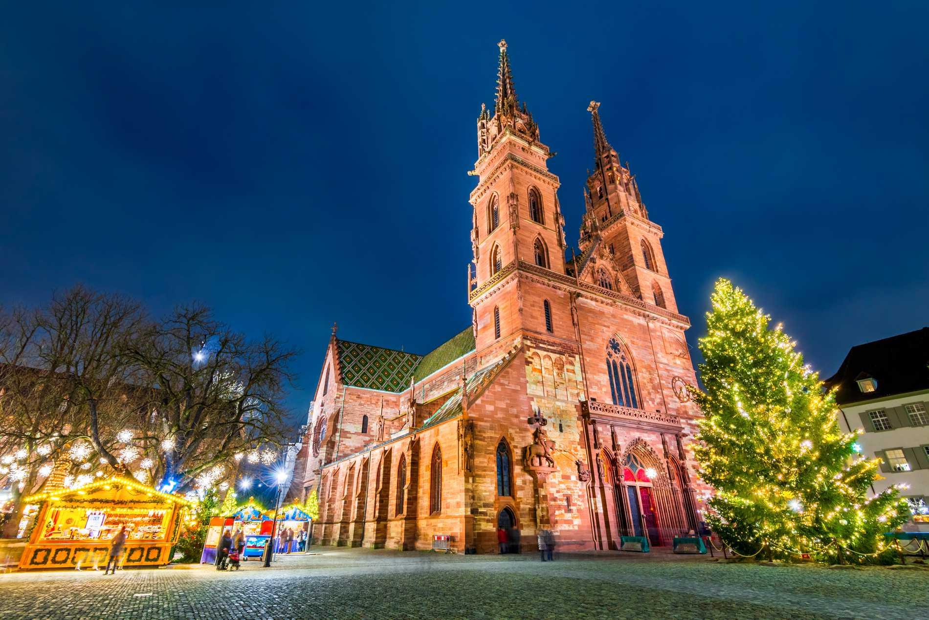 Julmarknaden i Basel anses vara en av landets vackraste.