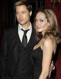 Partners Brad Pitt och Angelina Jolie.