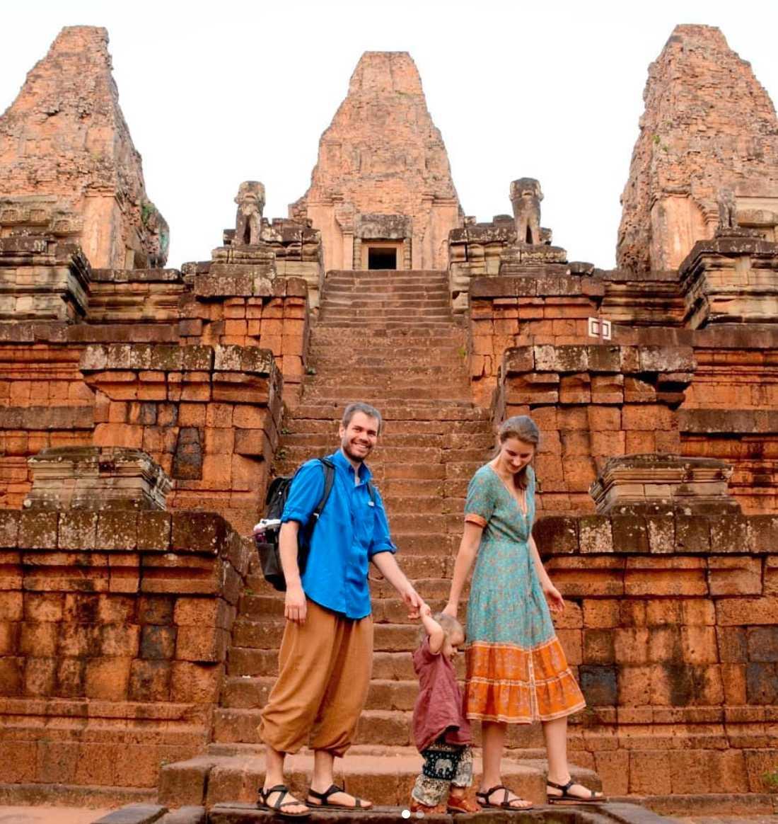 Ett tempel i Kambodja.