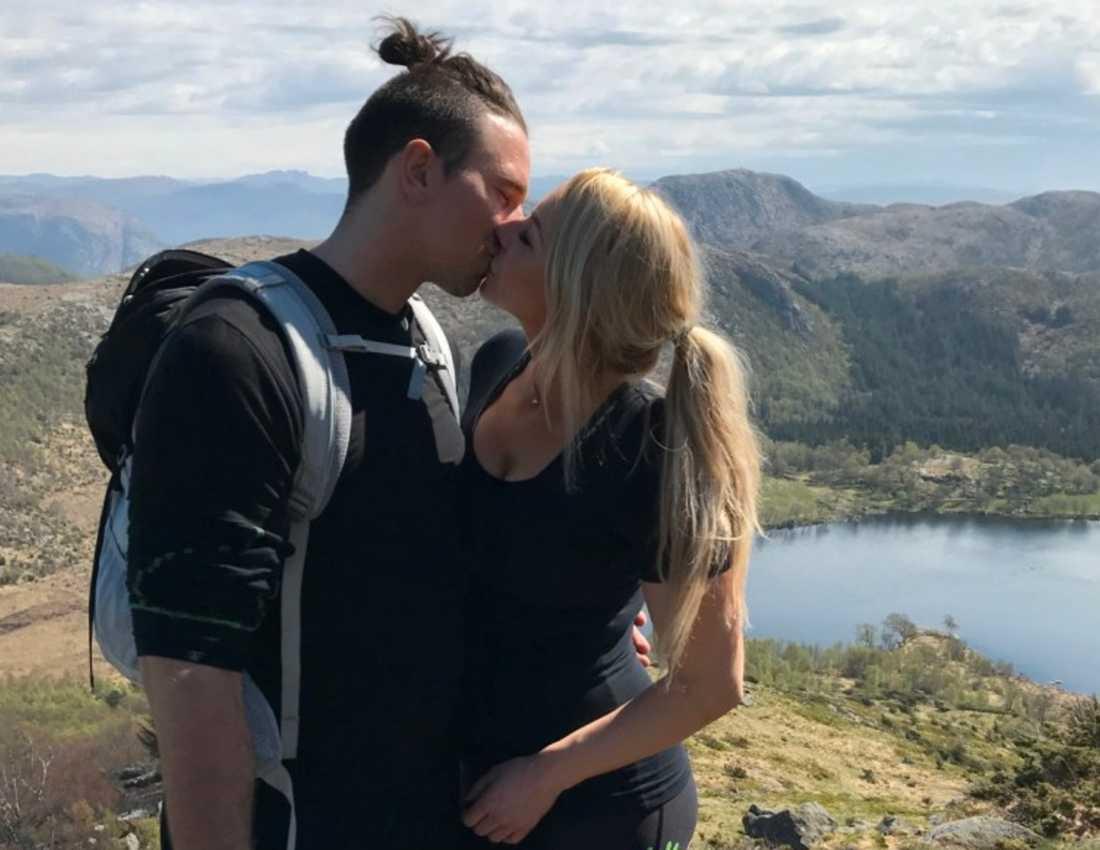 Lina Ilar tillsammans med nya kärleken Markus.