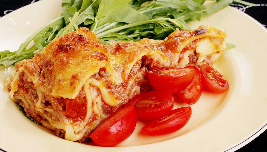 Ett stycke lyxig lasagne ur Aftonbladets arkiv (av bilder, inte av mat).