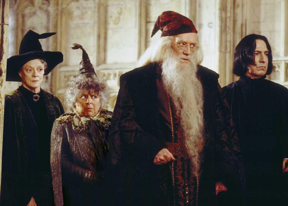 Miriam Margolyes i sin roll som Professor Sprout i Harry Potter.