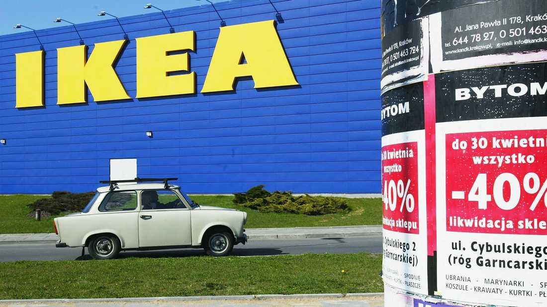 Ikea har i dag åtta varuhus i Polen. Det här ligger i Krakow men det som ligger närmast Sverige är det i Östersjöstaden Gdansk.